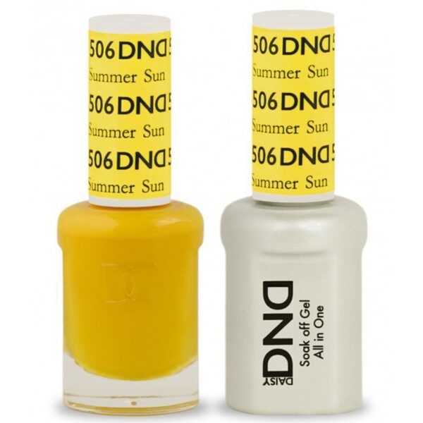 DND Duo GEL Pack - SUMMER SUN 1 Gel Polish 0.47 oz. + 1 Lacquer 0.47 oz. in Matching Color (DND-G506)