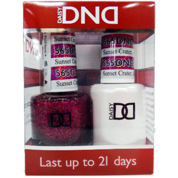 DND Duo GEL Pack - SUNSET CRATER AZ 1 Gel Polish 0.47 oz. + 1 Lacquer 0.47 oz. in Matching Color (DND-G565)