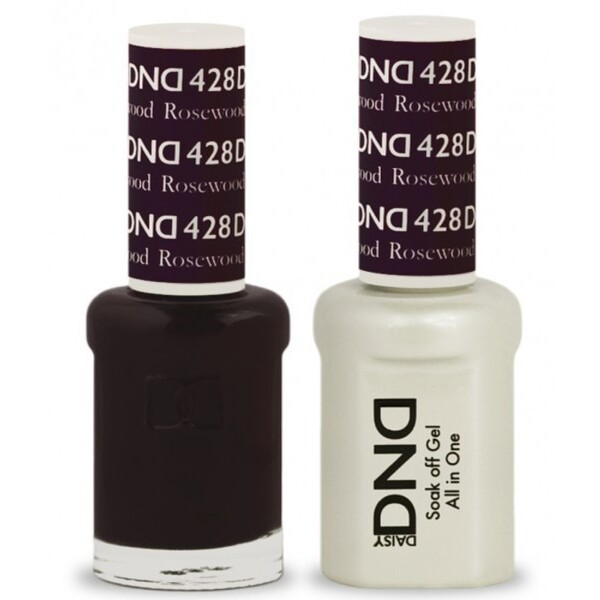 DND Duo GEL Pack - ROSEWOOD 1 Gel Polish 0.47 oz. + 1 Lacquer 0.47 oz. in Matching Color (DND-G428)