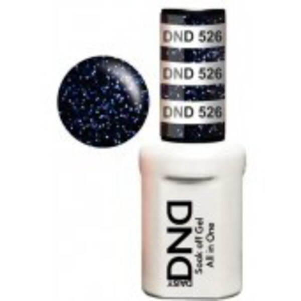 DND Duo GEL Pack - SEA BY NIGHT 1 Gel Polish 0.47 oz. + 1 Lacquer 0.47 oz. in Matching Color (DND-G526)