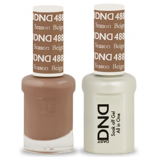DND Duo GEL Pack - SEASON BEIGE 1 Gel Polish 0.47 oz. + 1 Lacquer 0.47 oz. in Matching Color (DND-G488)