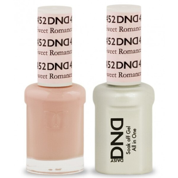 DND Duo GEL Pack - SWEET ROMANCE 1 Gel Polish 0.47 oz. + 1 Lacquer 0.47 oz. in Matching Color (DND-G452)