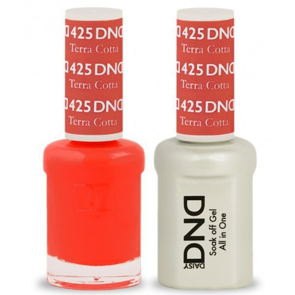 DND Duo GEL Pack - TERRA COTTA 1 Gel Polish 0.47 oz. + 1 Lacquer 0.47 oz. in Matching Color (DND-G425)