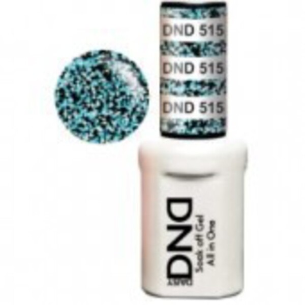 DND Duo GEL Pack - TROPICAL WATERFALL 1 Gel Polish 0.47 oz. + 1 Lacquer 0.47 oz. in Matching Color (DND-G515)