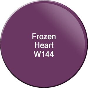WaveGel Matching Soak Off Gel Polish & Nail Lacquer - Frozen Heart 0.5 oz. Each (WG144)