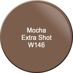 WaveGel Matching Soak Off Gel Polish & Nail Lacquer - Mocha Extra Shot 0.5 oz. Each (WG146)