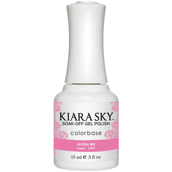 Kiara Sky Soak Off Gel Polish + Matching Lacquer - Sweet Indulgence Collection - LAVISH ME (G527)
