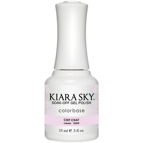 Kiara Sky Soak Off Gel Polish + Matching Lacquer - Sweet Indulgence Collection - CHIT CHAT (G524)