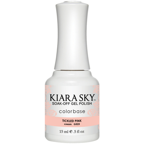Kiara Sky Soak Off Gel Polish + Matching Lacquer - Sweet Indulgence Collection - TICKLED PINK (G523)