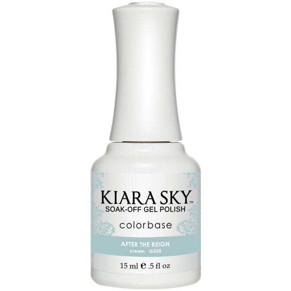 Kiara Sky Soak Off Gel Polish + Matching Lacquer - Aura Collection - AFTER THE RIGN (G535)
