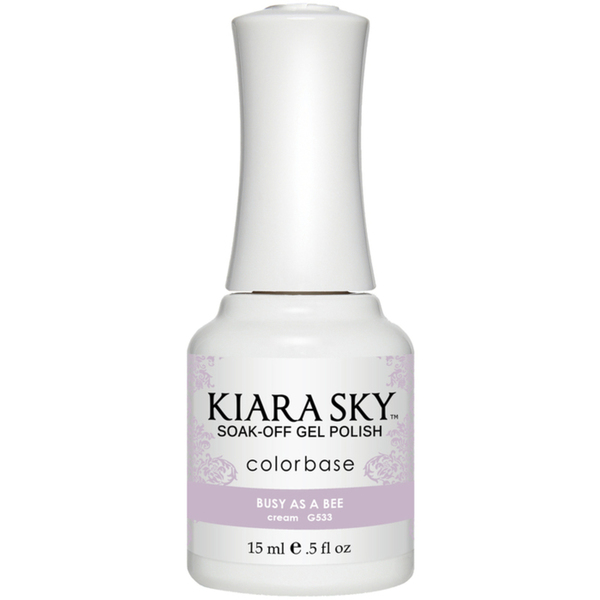 Kiara Sky Soak Off Gel Polish + Matching Lacquer - Aura Collection - BUSY AS A BEE (G533)