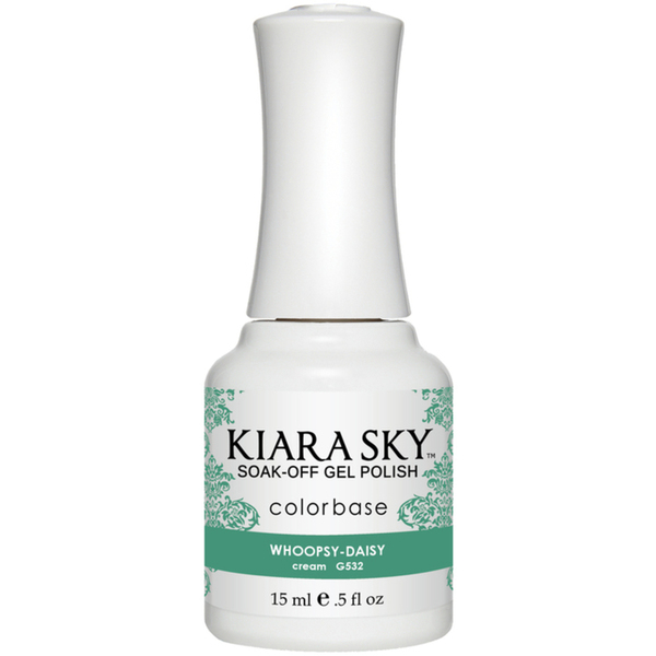 Kiara Sky Soak Off Gel Polish + Matching Lacquer - Aura Collection - WOOPSY DAISY (G532)