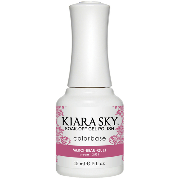 Kiara Sky Soak Off Gel Polish + Matching Lacquer - Aura Collection - MERCI-BEAU-QUET (G531)