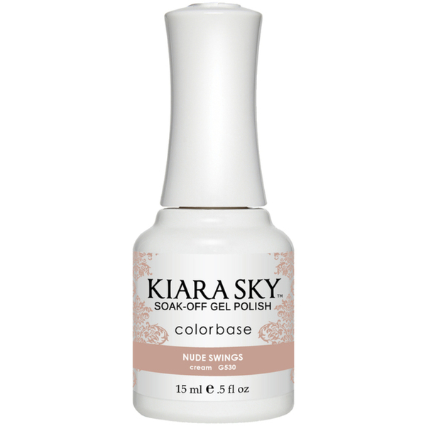 Kiara Sky Soak Off Gel Polish + Matching Lacquer - Aura Collection - NUDE SWINGS (G530)