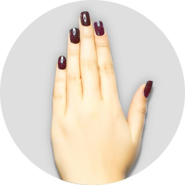iGel Matched Set: 1 iGel Impecable Soaked-off Gel Polish 0.5 oz. + 1 iLacquer Matching Nail Lacquer Color 0.5 oz. - PLUM - # 73 (igel-73)