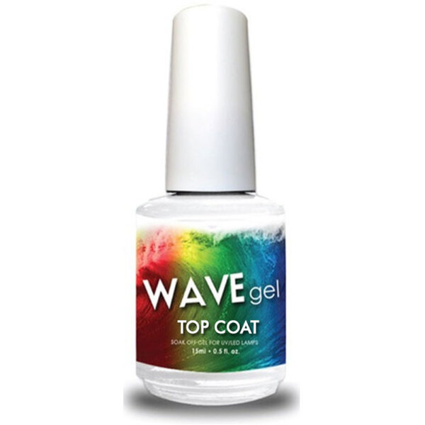 WaveGel Soak Off Gel Polish Top Coat 0.5 oz. (WGT)