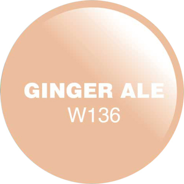 WaveGel Matching Soak Off Gel Polish & Nail Lacquer - Ginger Ale 0.5 oz. Each (WG136)