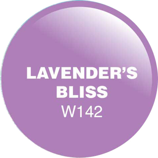 WaveGel Matching Soak Off Gel Polish & Nail Lacquer - Lavender's Bliss 0.5 oz. Each (WG142)