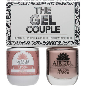 The Gel Couple - EXPOSED - La Palm Gel Polish 0.5 oz. + Airgel - Air Dry Extended Wear Polish 0.5 oz. by La Palm (LP504)
