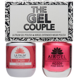 The Gel Couple - PINK BIKINI - La Palm Gel Polish 0.5 oz. + Airgel - Air Dry Extended Wear Polish 0.5 oz. by La Palm (LP509)