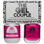 The Gel Couple - FRUITY SANDRIA - La Palm Gel Polish 0.5 oz. + Airgel - Air Dry Extended Wear Polish 0.5 oz. by La Palm (LP513)