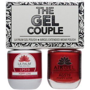 The Gel Couple - PUPPY LOVE - La Palm Gel Polish 0.5 oz. + Airgel - Air Dry Extended Wear Polish 0.5 oz. by La Palm (LP519)