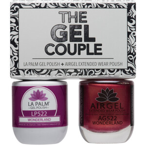 The Gel Couple - WONDERLAND - La Palm Gel Polish 0.5 oz. + Airgel - Air Dry Extended Wear Polish 0.5 oz. by La Palm (LP522)