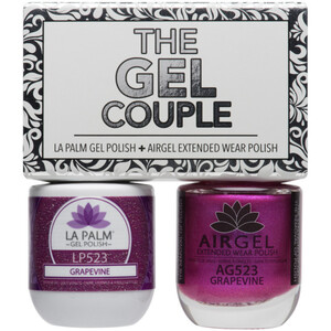 The Gel Couple - GRAPEVINE - La Palm Gel Polish 0.5 oz. + Airgel - Air Dry Extended Wear Polish 0.5 oz. by La Palm (LP523)
