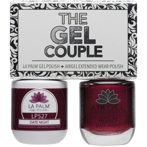 The Gel Couple - DATE NIGHT - La Palm Gel Polish 0.5 oz. + Airgel - Air Dry Extended Wear Polish 0.5 oz. by La Palm (LP527)