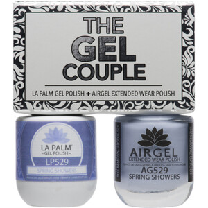 The Gel Couple - SPRING SHOWERS - La Palm Gel Polish 0.5 oz. + Airgel - Air Dry Extended Wear Polish 0.5 oz. by La Palm (LP529)