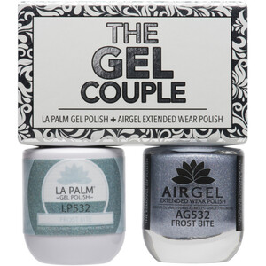 The Gel Couple - FROST BITE - La Palm Gel Polish 0.5 oz. + Airgel - Air Dry Extended Wear Polish 0.5 oz. by La Palm (LP532)