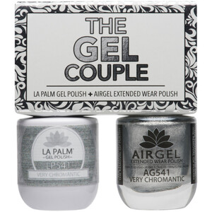 The Gel Couple - VERY CHROMANTIC - La Palm Gel Polish 0.5 oz. + Airgel - Air Dry Extended Wear Polish 0.5 oz. by La Palm (LP541)