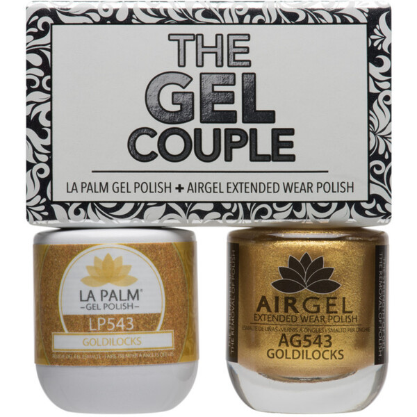 The Gel Couple - GOLDILOCKS - La Palm Gel Polish 0.5 oz. + Airgel - Air Dry Extended Wear Polish 0.5 oz. by La Palm (LP543)