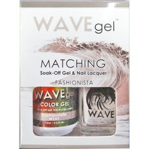 WaveGel Matching Soak Off Gel Polish & Nail Lacquer - Costa Rica Paradise Collection - FASHIONISTA 0.5 oz. Each (W151)