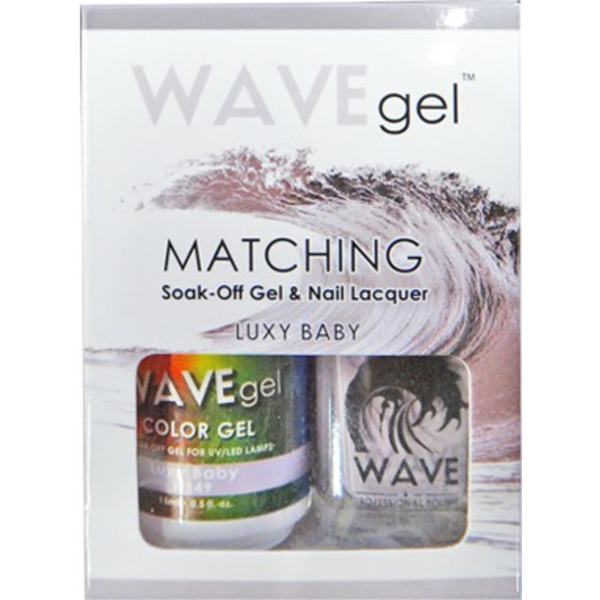 WaveGel Matching Soak Off Gel Polish & Nail Lacquer - Costa Rica Paradise Collection - LUXY BABY 0.5 oz. Each (W149)