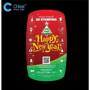 Chisel Nail Art New Year Collection #011 - 3D Nail Stamps (cna011)