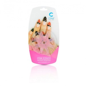 Chisel Nail Art Heart Edger Pink (cnaedhp)