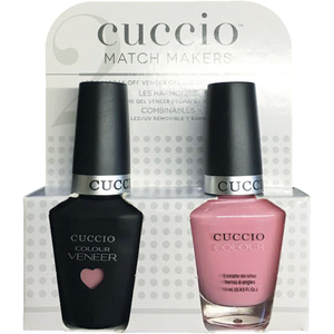 Cuccio Match Makers - Sweet Pink Collection - Pink Lady Kit - 1 Nail Lacquer + 1 Matching Veneer Soak Off LEDUV Nail Colour 0.43 oz. Each (#6402)