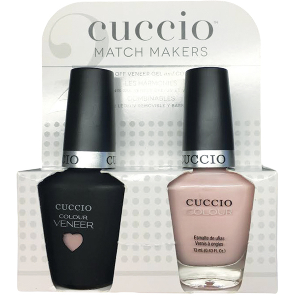 Cuccio Match Makers - Sweet Pink Collection - Pink Champagne Kit - 1 Nail Lacquer + 1 Matching Veneer Soak Off LEDUV Nail Colour 0.43 oz. Each (#6401)