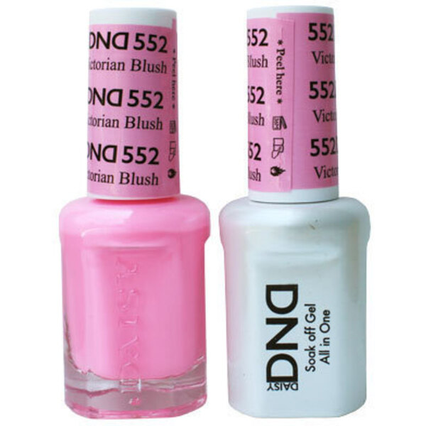 DND Duo GEL Pack - VICTORIAN BLUSH 1 Gel Polish 0.47 oz. + 1 Lacquer 0.47 oz. in Matching Color (DND-G552)