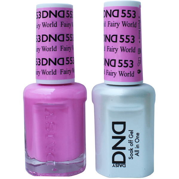 DND Duo GEL Pack - FAIRY WORLD 1 Gel Polish 0.47 oz. + 1 Lacquer 0.47 oz. in Matching Color (DND-G553)