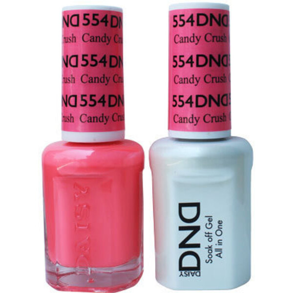 DND Duo GEL Pack - CANDY CRUSH 1 Gel Polish 0.47 oz. + 1 Lacquer 0.47 oz. in Matching Color (DND-G554)