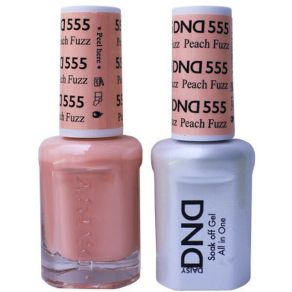 DND Duo GEL Pack - PEACH FUZZ 1 Gel Polish 0.47 oz. + 1 Lacquer 0.47 oz. in Matching Color (DND-G555)