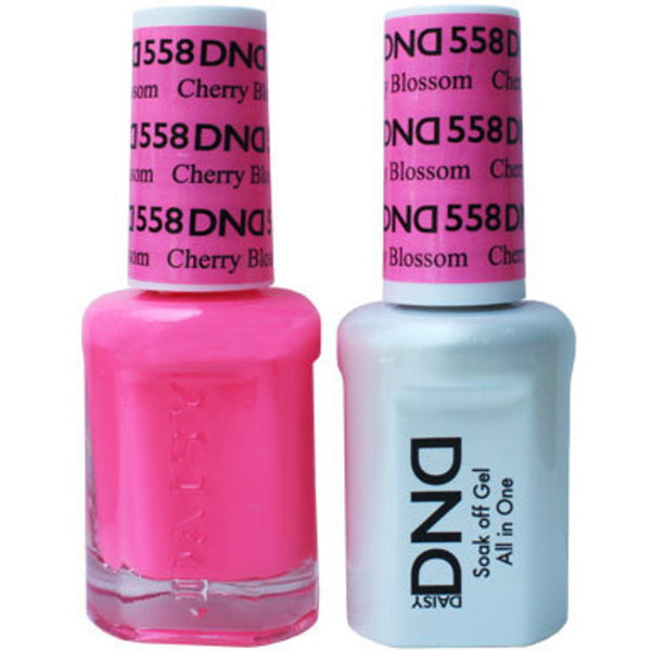 DND Duo GEL Pack - CHERRY BLOSSOM 1 Gel Polish 0.47 oz. + 1 Lacquer 0.47 oz. in Matching Color (DND-G558)