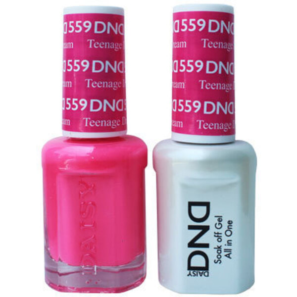 DND Duo GEL Pack - TEENAGE DREAM 1 Gel Polish 0.47 oz. + 1 Lacquer 0.47 oz. in Matching Color (DND-G559)