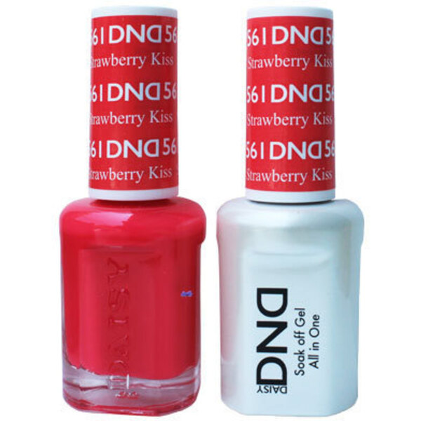 DND Duo GEL Pack - STRABERRY KISS 1 Gel Polish 0.47 oz. + 1 Lacquer 0.47 oz. in Matching Color (DND-G561)