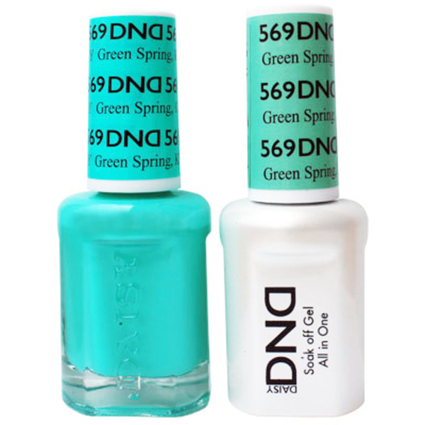 DND Duo GEL Pack - GREEN SPRING KY 1 Gel Polish 0.47 oz. + 1 Lacquer 0.47 oz. in Matching Color (DND-G569)