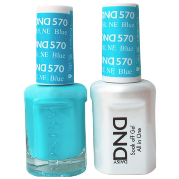 DND Duo GEL Pack - BLUE HILL NE 1 Gel Polish 0.47 oz. + 1 Lacquer 0.47 oz. in Matching Color (DND-G570)