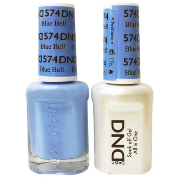 DND Duo GEL Pack - BLUE BELL 1 Gel Polish 0.47 oz. + 1 Lacquer 0.47 oz. in Matching Color (DND-G574)