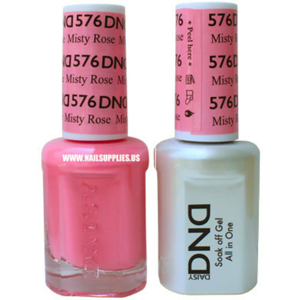 DND Duo GEL Pack - MISTY ROSE 1 Gel Polish 0.47 oz. + 1 Lacquer 0.47 oz. in Matching Color (DND-G576)